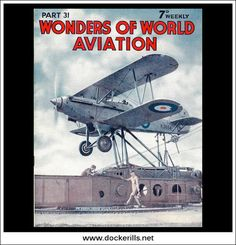 Wonders Of World Aviation Magazine No. Cover - RAF Catapult Launch At RAF Flying Training School, Leuchars, Scotland. Girl Scout Swap, Girl Scout Leader, Boy Scouts, Aviation Magazine, Italian Air Force, Girl Scout Crafts, Training School, Flying Boat, Eagle Scout