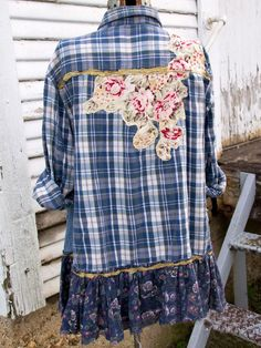 Altered Couture, Shirt Refashion, Boho Outfits, Casual Tops, Diy Clothes, Types Of Sleeves, Upcycled Clothing, Boho Clothing, Long Sleeve