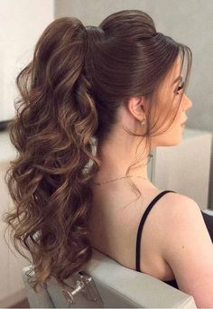 15 Easy Ponytail Hairstyles And Haircuts You Must Try Hair Ponytail Styles, Braided Ponytail, Ponytail Hairstyles, Wedding Hairstyles, Work Hairstyles, Bandana Hairstyles, Casual Hairstyles, Elegant Hairstyles, Pretty Hairstyles