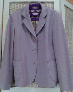 "28.87$  Watch here - http://vijhy.justgood.pw/vig/item.php?t=qtej4wy530 - JIGSAW Soft Lilac Blazer Wool-Angora-Cashmere Blend Made in UK 38"" Bust VGC 28.87$"