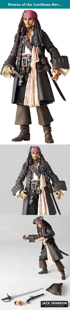 Pirates of the Carribean Revoltech SciFi Super Poseable Action Figure Jack Sparrow. Just in time for the theatrical release of the 4th installment of Disney's Pirates of Caribbean series 'On Stranger Tides' , Captain Jack Sparrow gets the Revoltech treatment. This highly poseable and articualted detailed PVC figure stands 13.5cm tall and includes a removable pirate hat, nameplate, sword, pistol, interchangeable hand, and a pirate flag which acts as a base/stand. Get your favorite pirate...