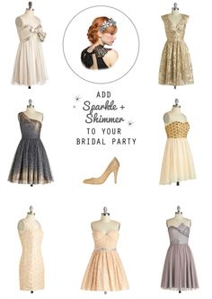 Super Sparkle Week: 9 Shimmery Bridal Party Attire Suggestions for a Vegas Wedding