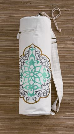 Blissliving Home Kalapa Yoga Bag in Ivory | Get a plain bag & decorate it!