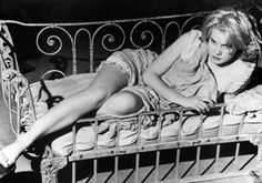 """Carroll Baker (1931 - ), one in a long line of sultry blondes hoping to capitalize on the popularity of the type made famous by Marilyn Monroe. Notable role in the decade: Baby Doll Meighan in """"Baby Doll"""" (1956), for which she received an Oscar nomination. Trivia: Has a daughter, Blanche Baker, with her own, long list of film credits though not the same level of notoriety. Photo: Getty Images / SL"""