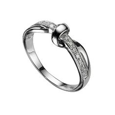 H.Samuel  9ct White Gold Diamond Ring - Product number 5566479  £229