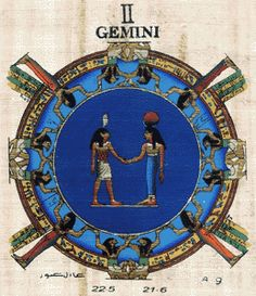 zodiac papyrus gemini | GEMINI Zodiac