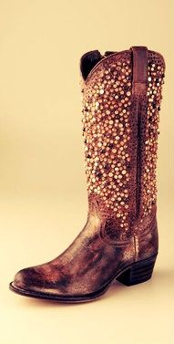 Bedazzled boots?! Cowboy boots I might actually consider wearing! Will look good with my healthy, tanned skin from R+F!! :)