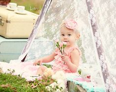 Kids Photo Props Lace Tent Cover Children Photography Prop Spring Outdoor Photo Prop. $40.00, via Etsy. so cute