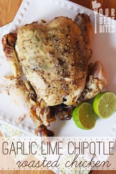 Garlic Lime Chipotle Roasted Chicken from Our Best Bites - leave out sugar to make paleo