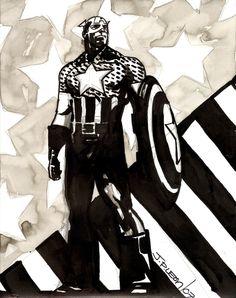 Captain America by John Paul Leon *