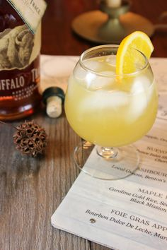 Orange Blossom Cocktail - bourbon, orange liquor, honey, fresh orange and lemon juice. Everything brings out the best flavors of the bourbon