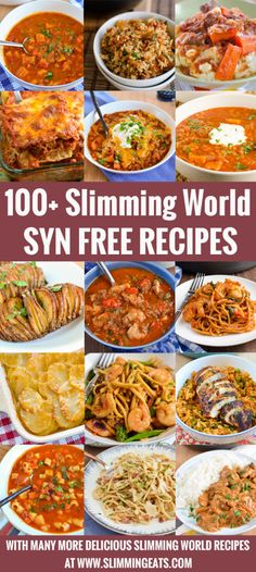 100 Slimming World Syn Free Recipes - save your syns for treat with these delicious syn free meals that do not compromise on taste. Recipes slimming world 100 Slimming World Syn Free Recipes Slimming World Dinners, Slimming World Recipes Syn Free, Slimming World Diet, Slimming Eats, Slimming World Lunch Ideas, Slimming World Chicken Recipes, Diet Recipes, Cooking Recipes, Recipies