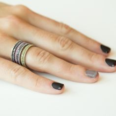 A great fall manicure using matte polish with shiny tips and a splash of ombre!