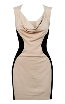 Drape Neck Colorblock Dress                                                                           I must have this