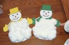 Sněhulák ve vatě /Návody pro tvoření  ProMaminky.cz Daycare Crafts, Classroom Crafts, Toddler Crafts, Preschool Crafts, Fun Crafts, Preschool Christmas, Christmas Activities, Kids Christmas, Christmas Snowman