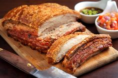 This is a simple slow roasted pork picnic with crispy skin. Slow roasting and simple seasonings bring out the best in this fresh pork picnic shoulder. Pork Belly Recipe Oven, Roasted Pork Belly Recipe, Pork Belly Roast, Slow Cooker Pork Belly, Pork Roast In Oven, Crispy Pork Belly Recipes, Pork Belly Cooking Time, Roast Pork Belly With Crackling, Pork Shoulder Picnic Roast
