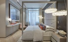 Mid-Century Modern Bedroom in RU by Fiona Barratt Interiors