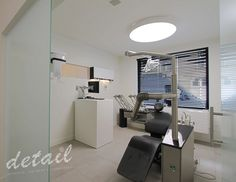 Tandarts kabint - zwart en wit - black and white #dental #blackwhite #interiordesign uitvoering door: Pigment
