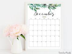 Botanical Calendar 2020 Kitchen Calendar 2020 Printable Wall | Etsy Photo Calendar, Calendar 2020, Blog Planner, 2015 Planner, Vintage Jewelry Crafts, Blogger Tips, Day Planners, Planner Organization, Blogger Templates