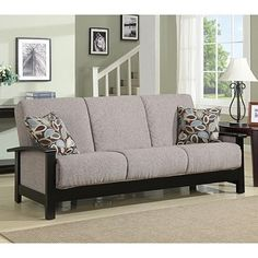 A futon is another great solution for hosting guests in an apartment without a dedicated guest space.