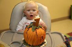 Pumpkin patch themed smash cake