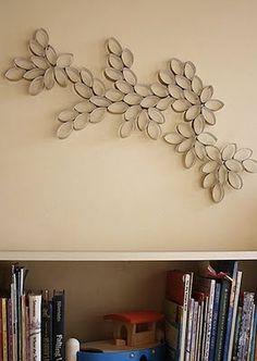 wall decor. toilet paper rolls?