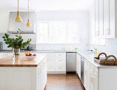 Kitchen Inspiration: brass hardware