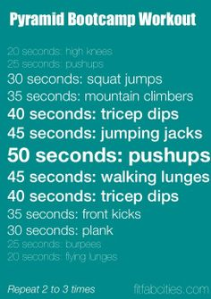Pyramid workout! I'm tired just reading it! This would def get your heart rate goin!