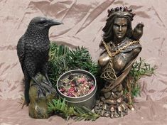 Your place to buy and sell all things handmade Eclectic Witch, Triple Goddess, Candle Spells, Tin Candles, Leaf Flowers, Smoky Quartz, Fragrance Oil, Hibiscus, Red Roses