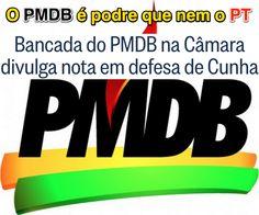 O PMDB é podre que nem o PT ➤ http://oglobo.globo.com/brasil/bancada-do-pmdb-na-camara-divulga-nota-em-defesa-de-cunha-17254599 ②⓪①⑤ ⓪⑧ ②① #BrazilCorruption