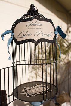 Advice for the Love Birds ~ love this! we have a cage & so does my uncle that would be PeRfEcT! :)