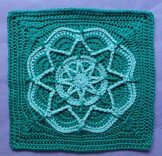 """Spiro Star. 1 of 3 samples shown. All are 12"""" squares."""
