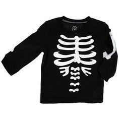 Glow in the Dark Skeleton Tee by Carter's: sz 12 mos, on sale, $10. #Skeleton_Tee #Carters