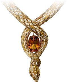 Yellow gold, topaz, brown diamonds, orange diamonds, diamonds The Cartier Étourdissant