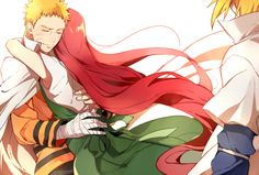 naruto and kushina. sweet
