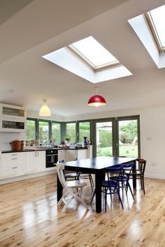 Kitchen extension using VELUX roof windows