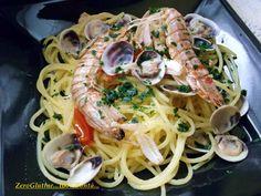Spaghetti con Cicale e Lupini di mare