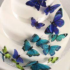 Beautiful Decorative Cake Butterfly Sets (Set of 24)...