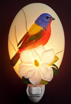 Ibis & Orchid Night Lights are designed and beautifully sculpted, cast in bonded marble, expertly hand painted and nicely gift-boxed. Note: Night Lights are Not Toys. Keep out of reach of Children. *