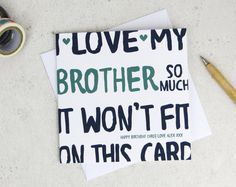 Gifts for brother birthday for him 62 Ideas for 2019 Birthday Quotes Funny For Him, Birthday Brother Funny, Birthday Present For Brother, Happy Birthday Quotes For Friends, Birthday Card Sayings, Birthday Gift For Him, Best Birthday Gifts, Funny Birthday Cards, Diy Birthday