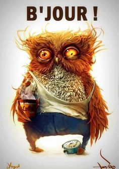 This what I look like in the morning because I am a night owl. <<<<<<<< partly true- if the owl was female XD Illustration Art, Illustrations, I Love Coffee, Owl Coffee, Drink Coffee, Monday Coffee, Coffee Art, Owl Art, Portrait Art