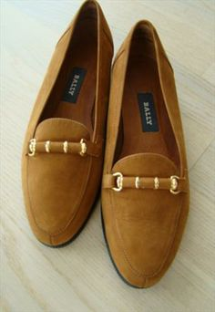 Bally light brown women's loafers