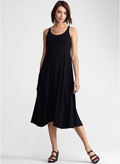 Viscose Jersey.  Vacation anyone? The *absolutely* perfect travel dress.  Opera, museums, even comfy enough for long train rides