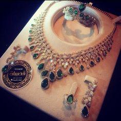 Esmarald and diamonds