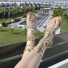 011740a9f28 Gorgeous Jeweled Gladiator Sandals Pasha Hisingen! ✨✨✨✨✨✨✨Enjoy the REAL  SPARKLE! No editing or special apps used! Only the sunlight ☀ !