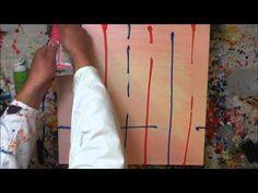 Tutorial Abstrakte Kunst (8) - Wir malen ein Bild - Acryl Spachtel-Technik - Painting Demo - YouTube