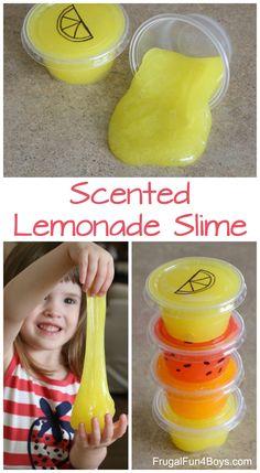 How to Make Scented Lemonade Slime - Slime recipe #slime #kidsactivities #summerfun