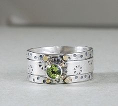 Autumn Olive Stack Ring, it's PERIDOT my girls' birthstones :)  Hint for the hubby