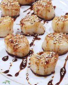 Honey Ginger Teriyaki Scallops