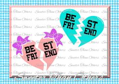 Best Friend Svg, Girl SVG,  baby cutting file Dxf Silhouette Cricut INSTANT DOWNLOAD, Vinyl Design, Htv, Scal, Mtc, Best Friends by SweeterThanOthers on Etsy
